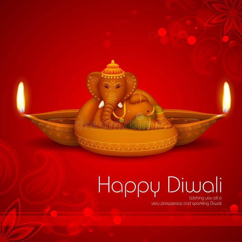 Предпосылка праздника Diwali иллюстрация штока