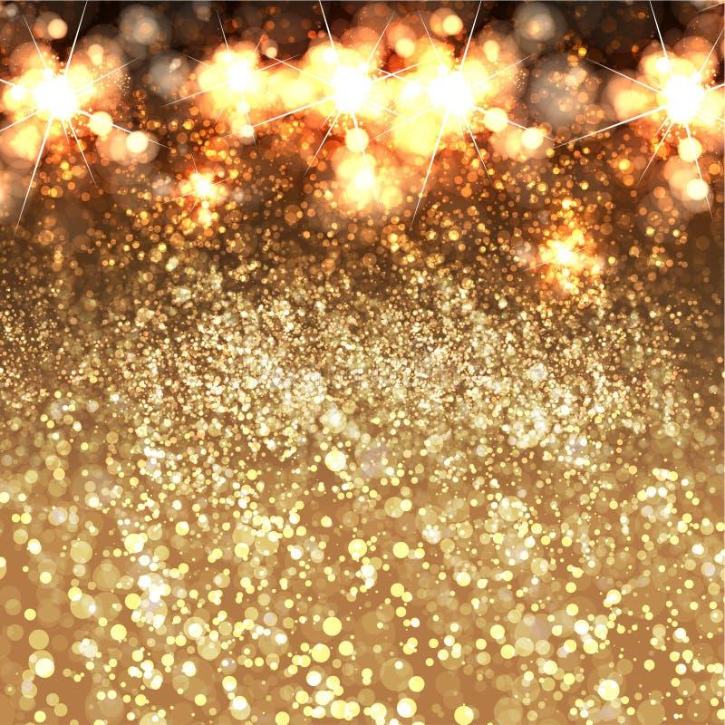 Предпосылка праздничного gliter рождества и Нового Года иллюстрация штока