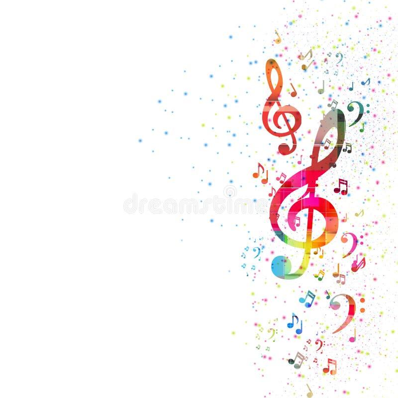Предпосылка примечания музыки иллюстрация вектора