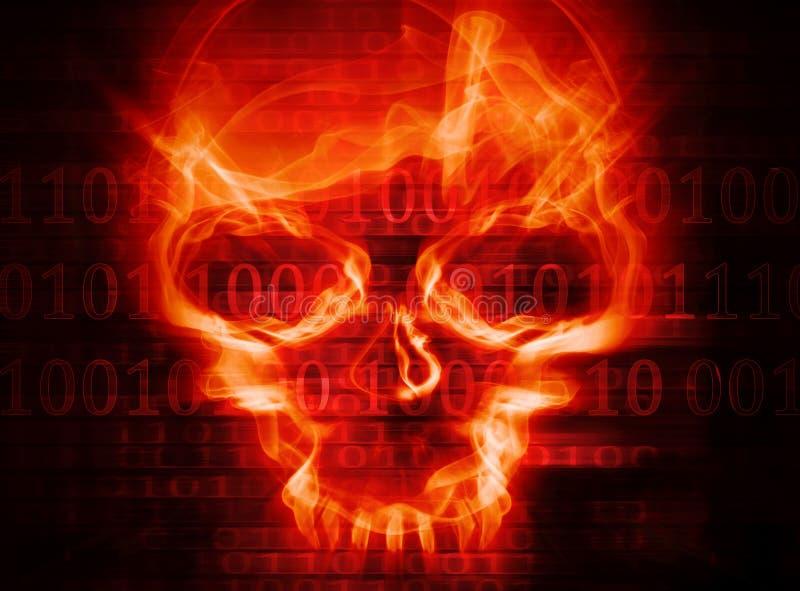 Предпосылка принципиальной схемы нападения хакера иллюстрация штока