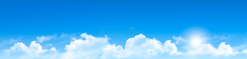 Предпосылка природы с голубым небом и облаками иллюстрация вектора