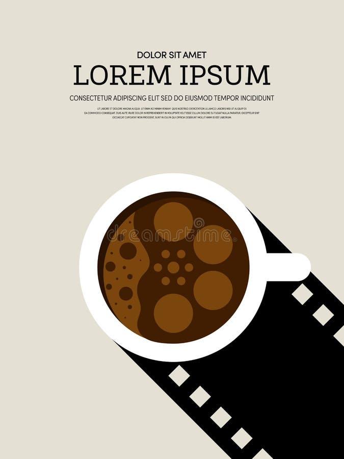 Предпосылка плаката кино и фильма современная ретро винтажная иллюстрация вектора