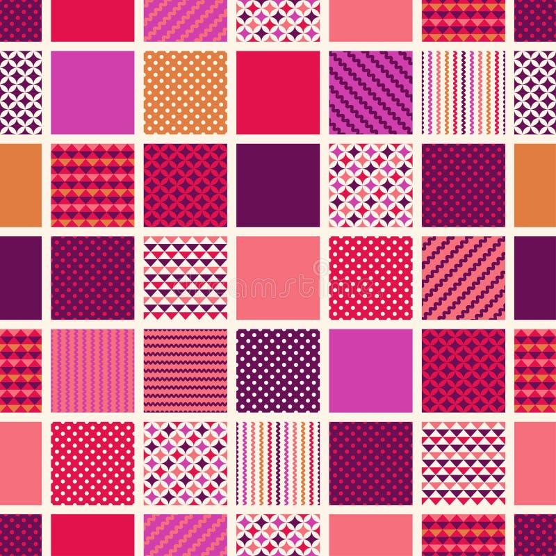 Предпосылка плиток безшовных точек квадратная иллюстрация штока