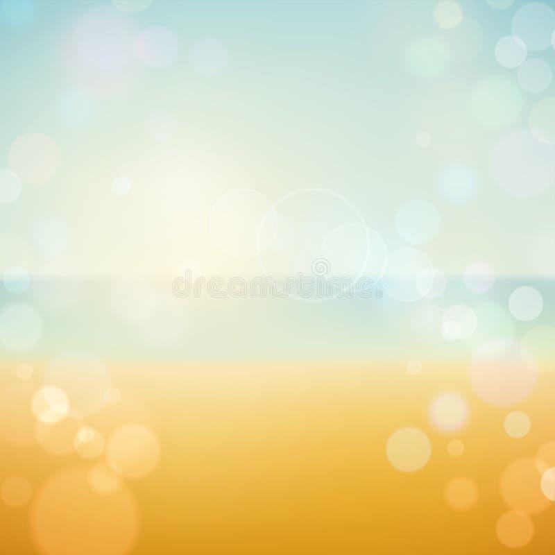 Предпосылка пляжа летнего отпуска тропическая бесплатная иллюстрация