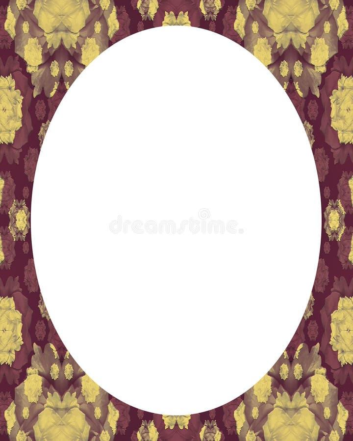 Предпосылка рамки круга белая с украшенными границами иллюстрация вектора