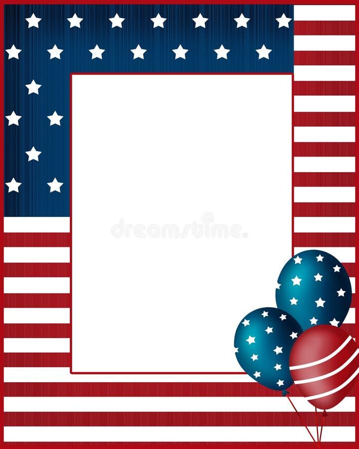 Предпосылка рамки США Дня независимости бесплатная иллюстрация