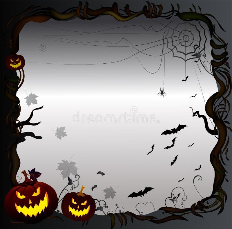 Download Предпосылка рамки хеллоуина Иллюстрация вектора - иллюстрации насчитывающей тыква, черный: 40577703