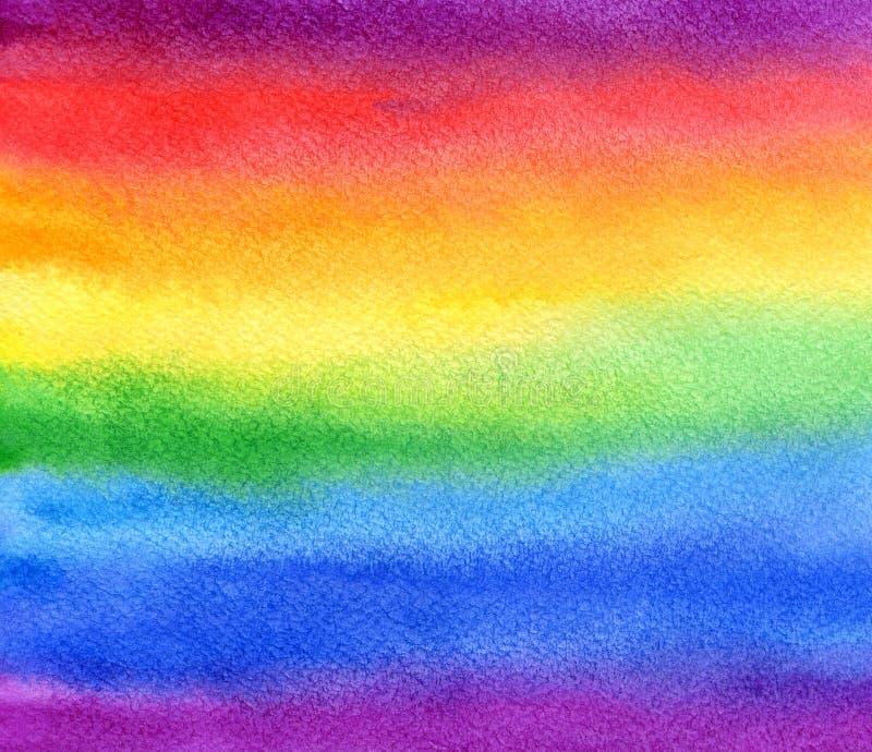 Предпосылка радуги акварели абстрактная стоковые фото