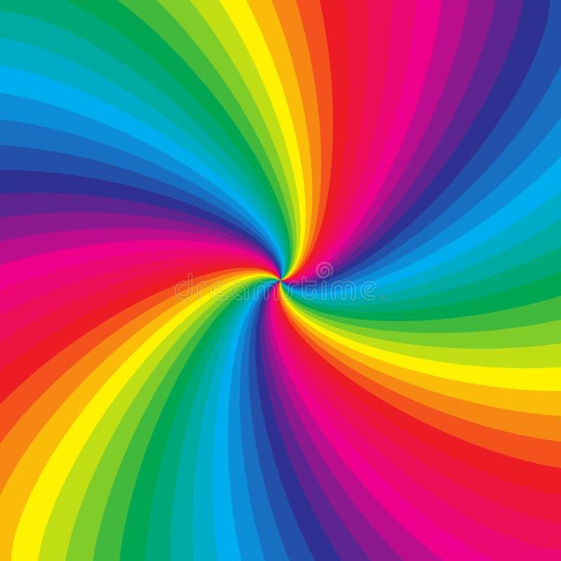 Предпосылка радуги красочная спиральная иллюстрация вектора