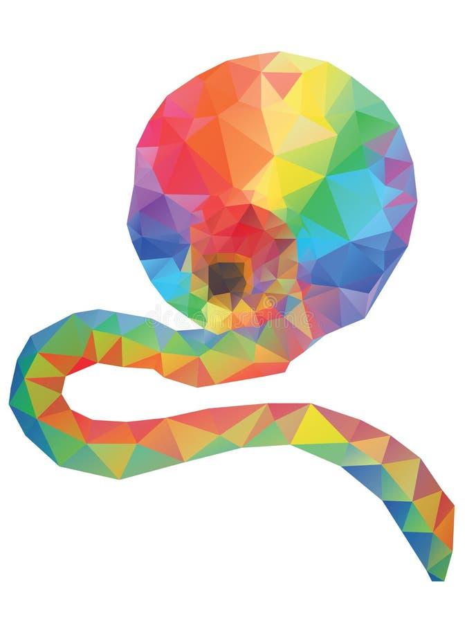 Предпосылка радуги полигональная бесплатная иллюстрация