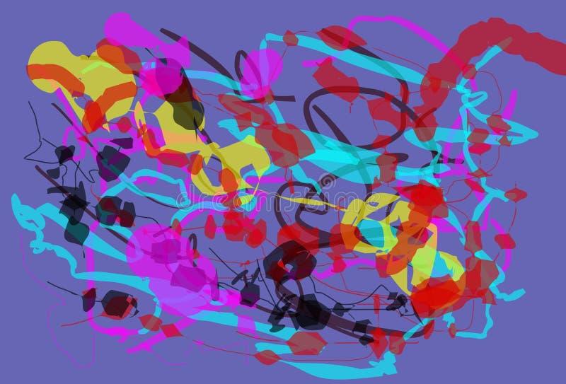 Предпосылка резюмирует цвет иллюстрация штока