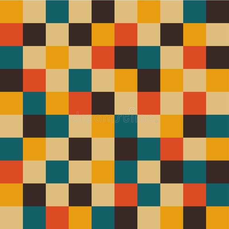 Предпосылка ретро квадратов бесплатная иллюстрация