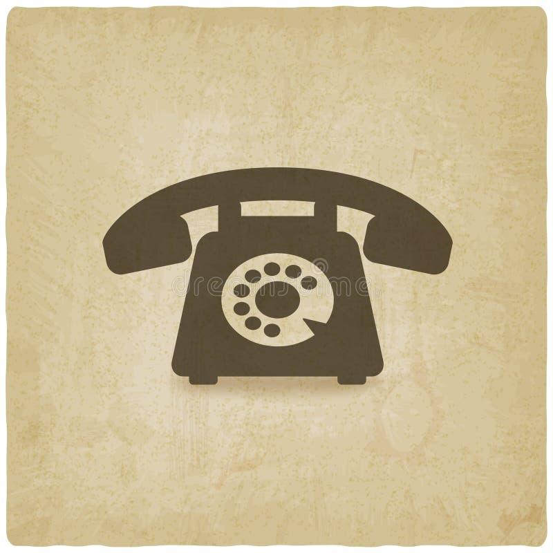 Предпосылка ретро телефона старая иллюстрация вектора