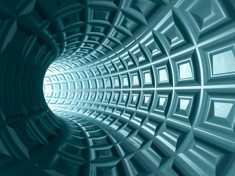Предпосылка решетки тоннеля иллюстрация вектора