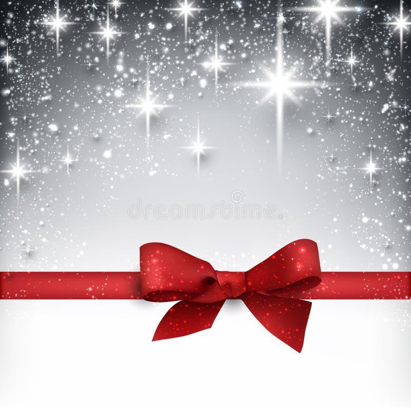 Предпосылка рождества зимы звёздная иллюстрация штока