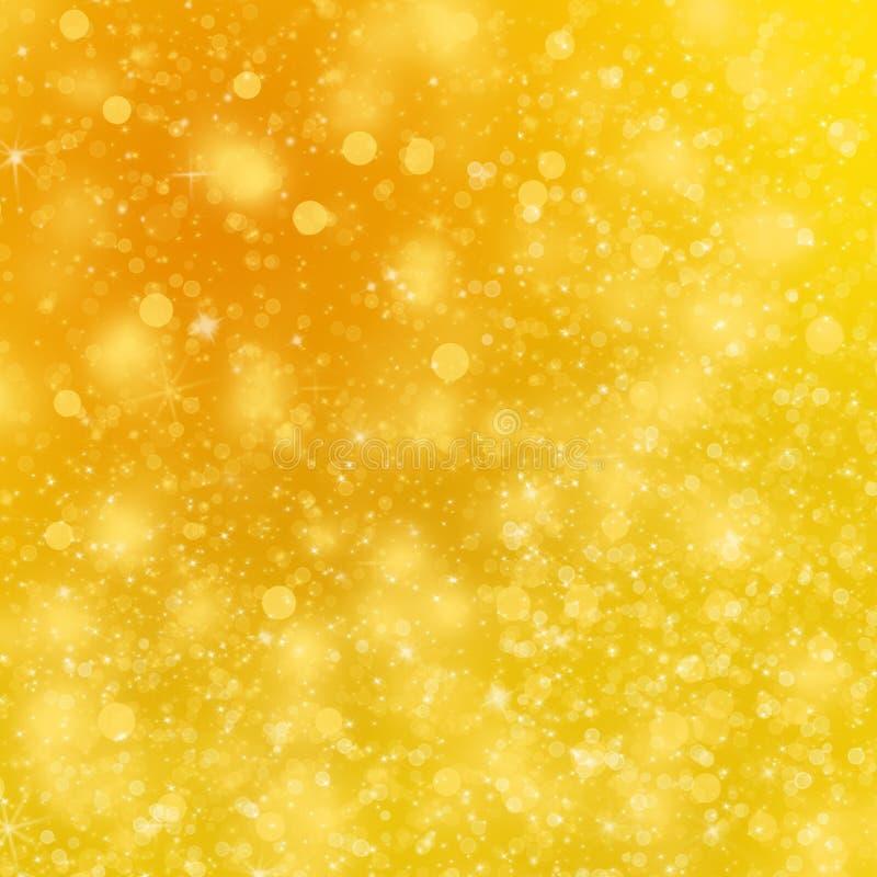 Предпосылка рождества золотая иллюстрация вектора
