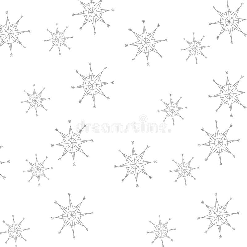 Предпосылка рождества картины снежинок бесплатная иллюстрация