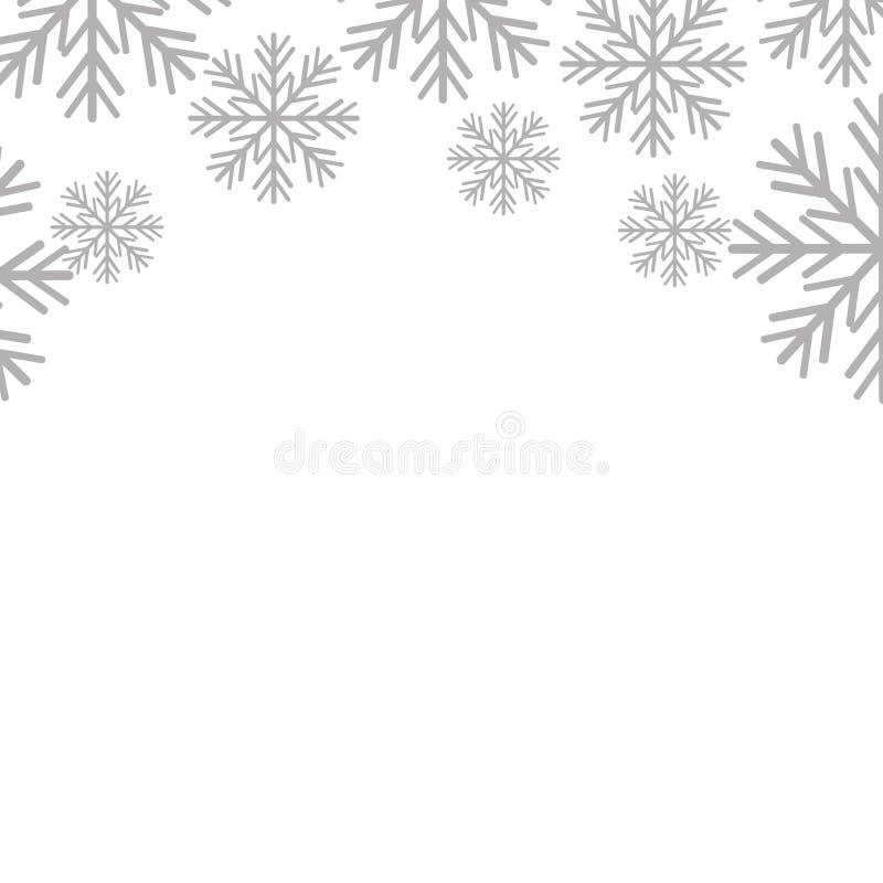 Предпосылка рождества картины снежинок иллюстрация вектора