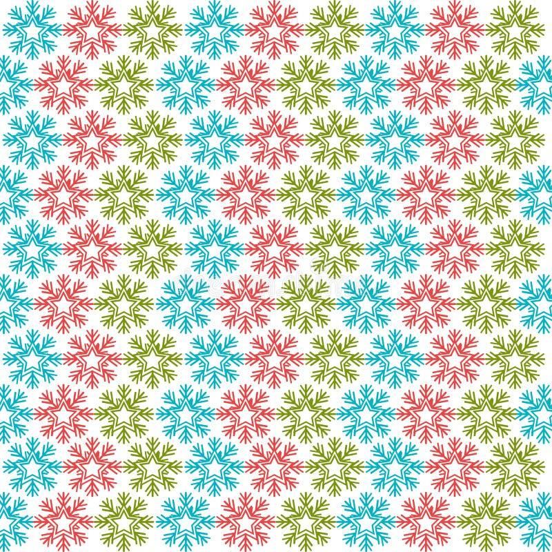 Предпосылка рождества картины снежинок иллюстрация штока