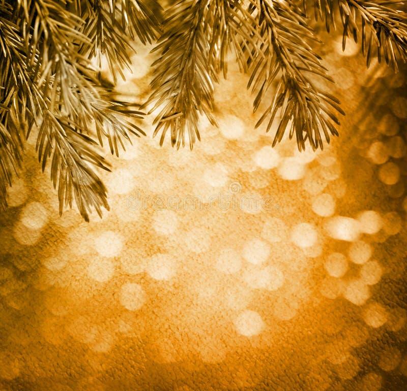 Предпосылка рождества нерезкости с елью стоковые фото