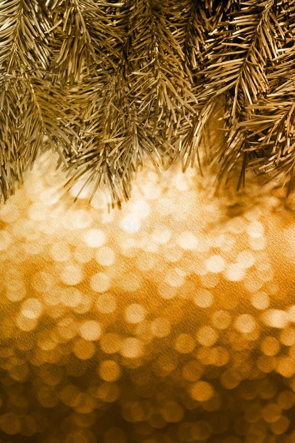 Предпосылка рождества нерезкости с елью стоковое изображение