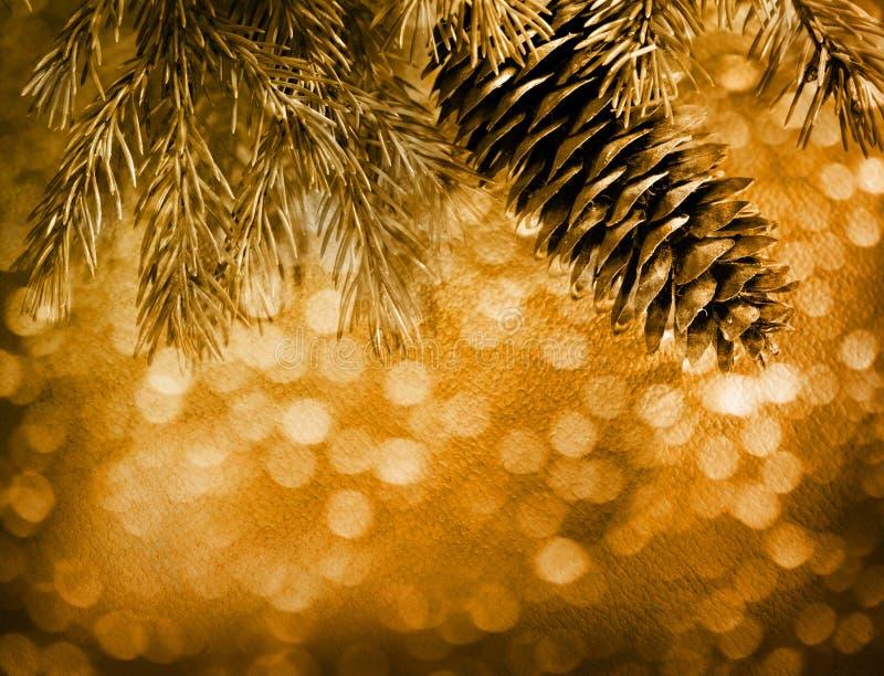 Предпосылка рождества нерезкости с елью стоковые изображения rf