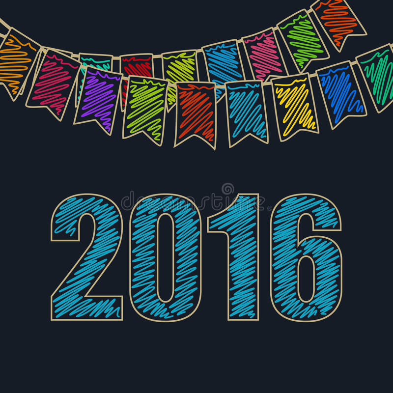 Предпосылка 2016 рождества праздничная иллюстрация штока