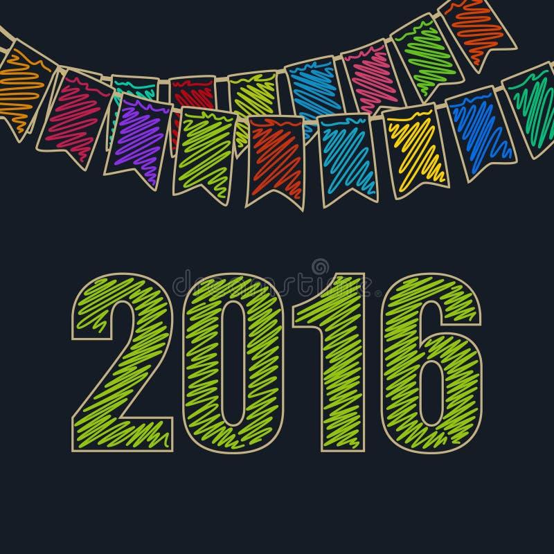 Предпосылка 2016 рождества праздничная иллюстрация вектора