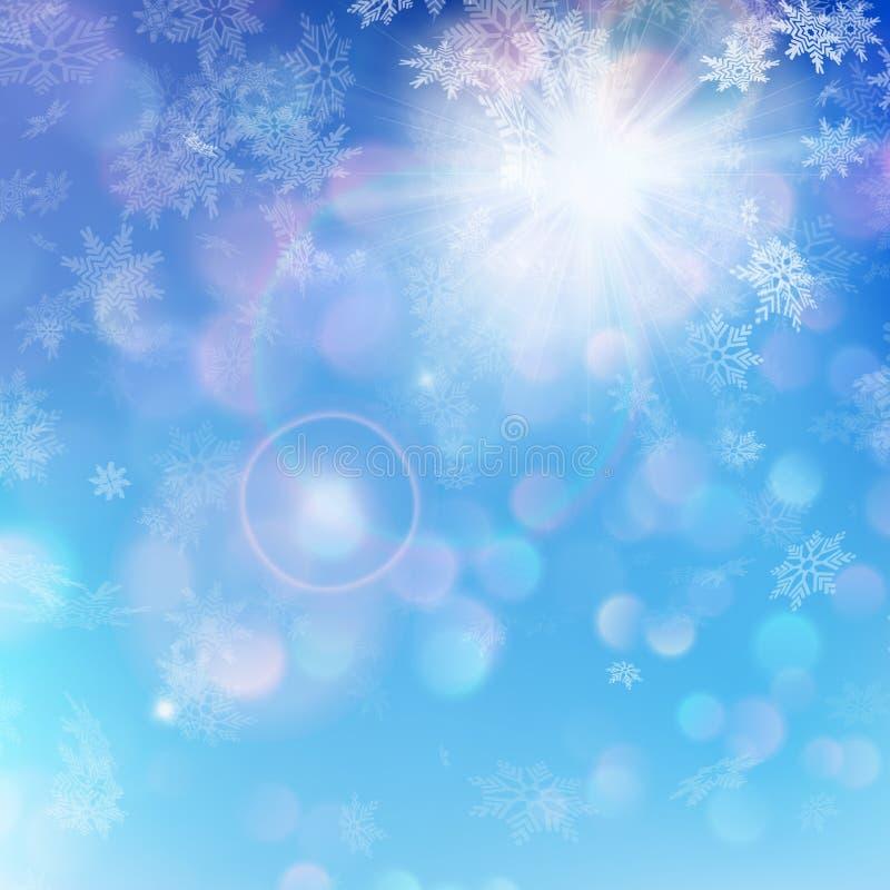 Предпосылка рождества - солнечный день 10 eps иллюстрация вектора
