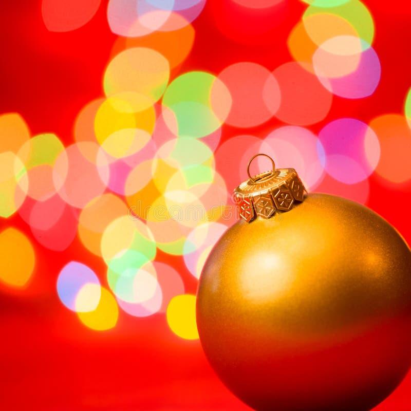 Предпосылка рождества с безделушкой и светами стоковые изображения