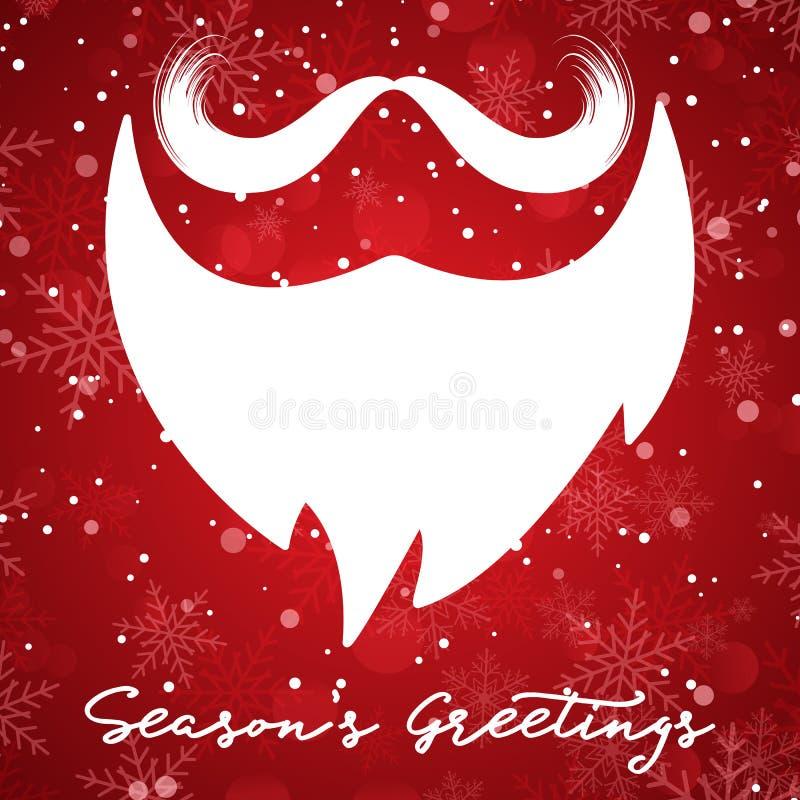 Предпосылка рождества с бородой santa бесплатная иллюстрация