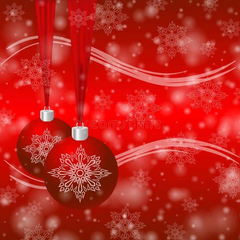 Предпосылка рождества с иллюстрацией eps 10 шариков иллюстрация вектора