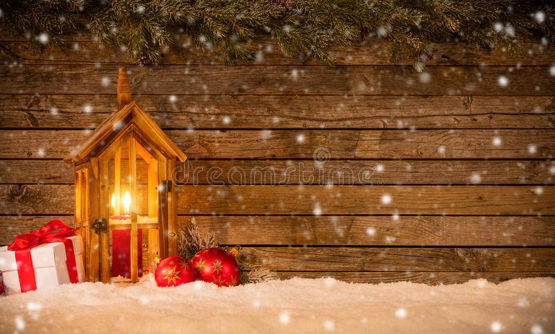 Download Предпосылка рождества с подарками и фонариком Стоковое Фото - изображение насчитывающей bowwow, никто: 81801314