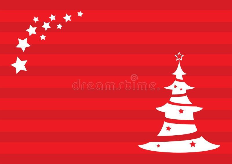 Предпосылка рождества с рождественской елкой и звездой стоковая фотография