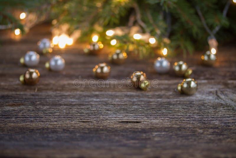 Предпосылка рождества с светами стоковое фото