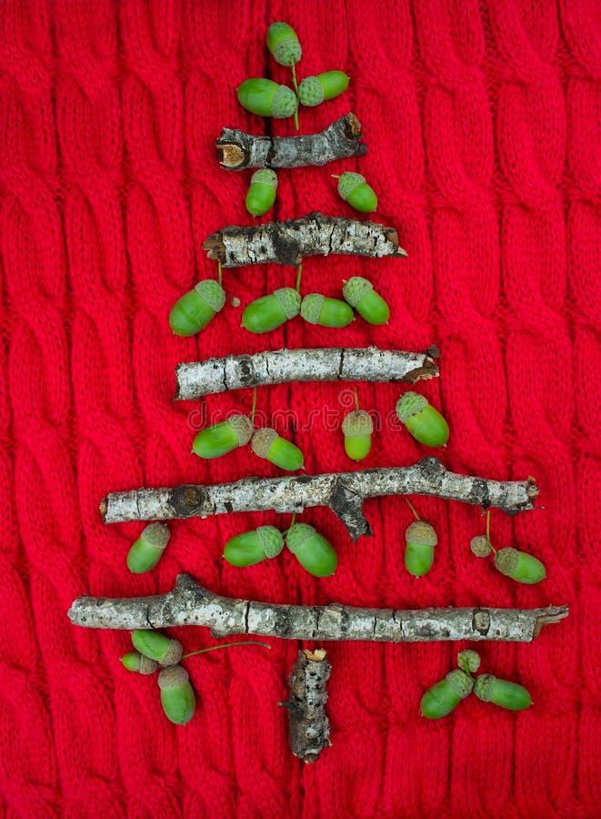 Предпосылка рождества теплая связанная с украшениями дерева Нового Года стоковые фото
