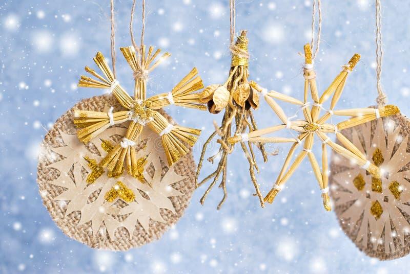 Предпосылка рождества - украшения праздника стоковые изображения