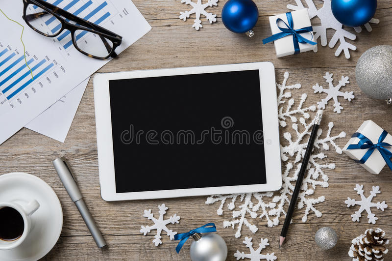Предпосылка рождества цифровая стоковое изображение