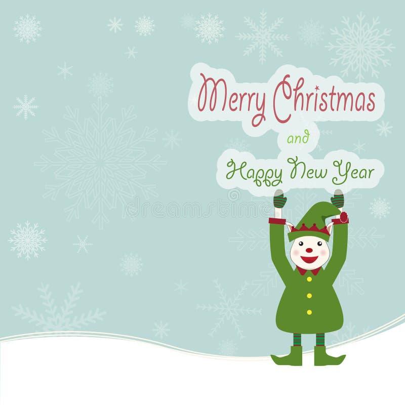 Download Предпосылка рождества эльфа и снежинки Иллюстрация вектора - иллюстрации насчитывающей сезон, торжество: 81812356