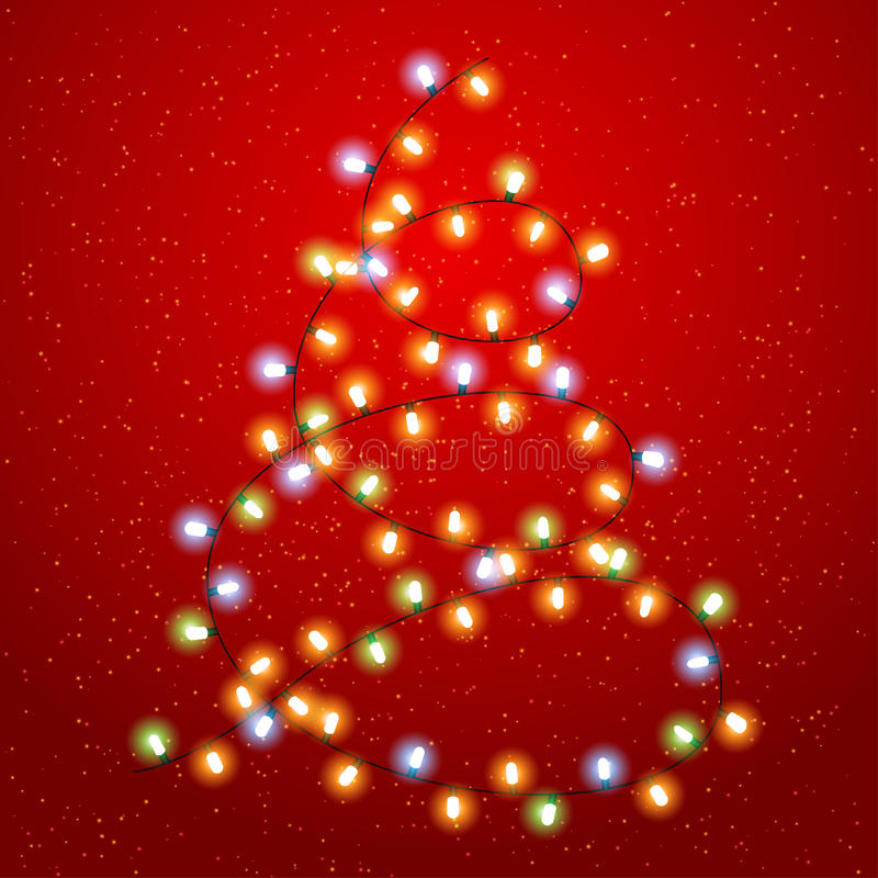 Предпосылка рождества Eps 10 с светящей гирляндой бесплатная иллюстрация
