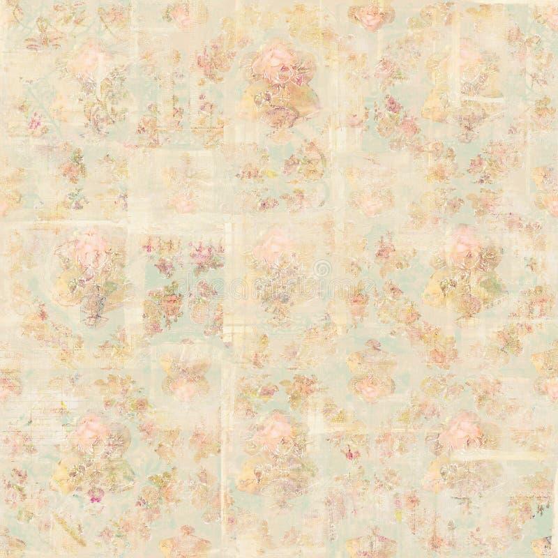 Предпосылка роз античного винтажного стиля ботаническая розовая флористическая бесплатная иллюстрация