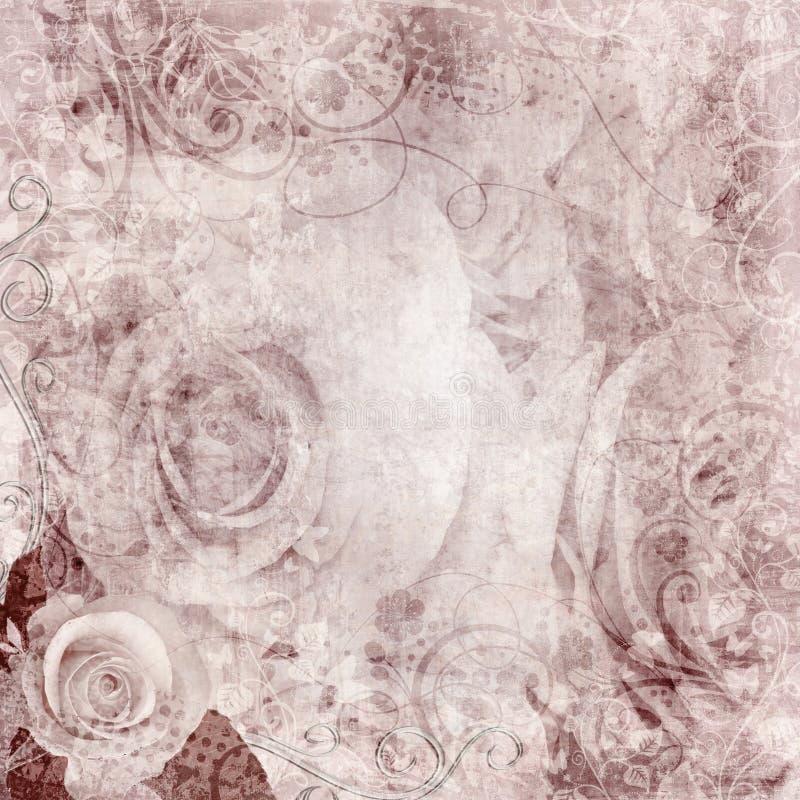 Предпосылка роз Grunge (1 из комплекта) стоковое изображение rf