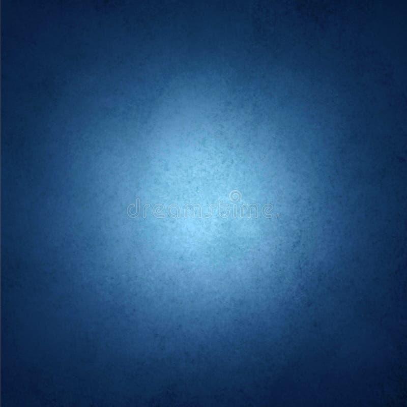 Предпосылка сапфира голубая с черной границей виньетки и белая разбивочная фара с copyspace для текста или изображения стоковое фото