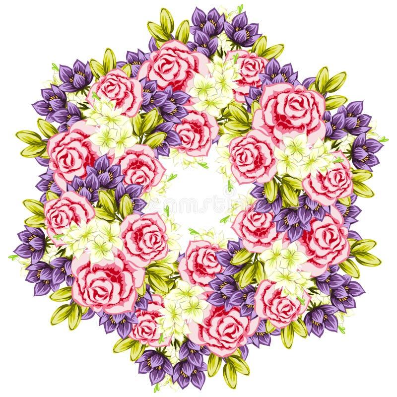 Предпосылка свежего цветка иллюстрация штока