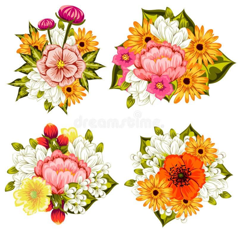 Предпосылка свежего цветка иллюстрация вектора