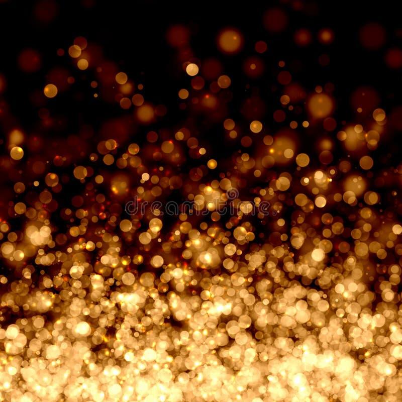 Предпосылка золота абстрактная светлая иллюстрация вектора