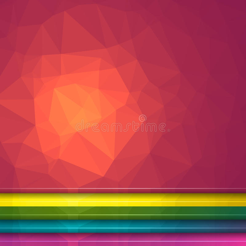 Предпосылка светового эффекта Poligon Комплект 5 геометрических триангулярных иллюстраций Заголовки вебсайта бесплатная иллюстрация