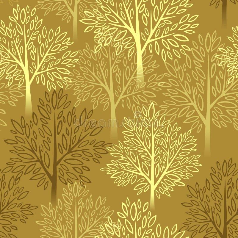 Предпосылка сезона падения Дерево осени безшовное бесплатная иллюстрация