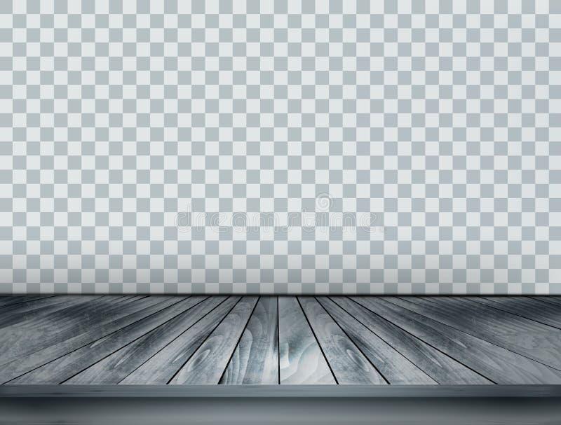 Предпосылка серого масштаба с деревянным полом бесплатная иллюстрация