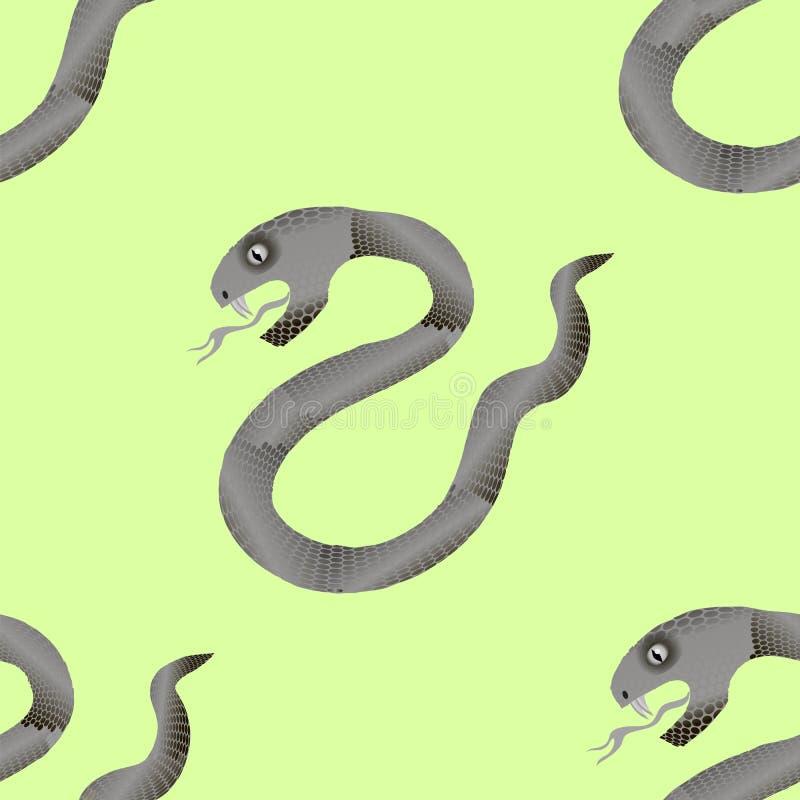 Предпосылка серой змейки безшовная Животная картина бесплатная иллюстрация